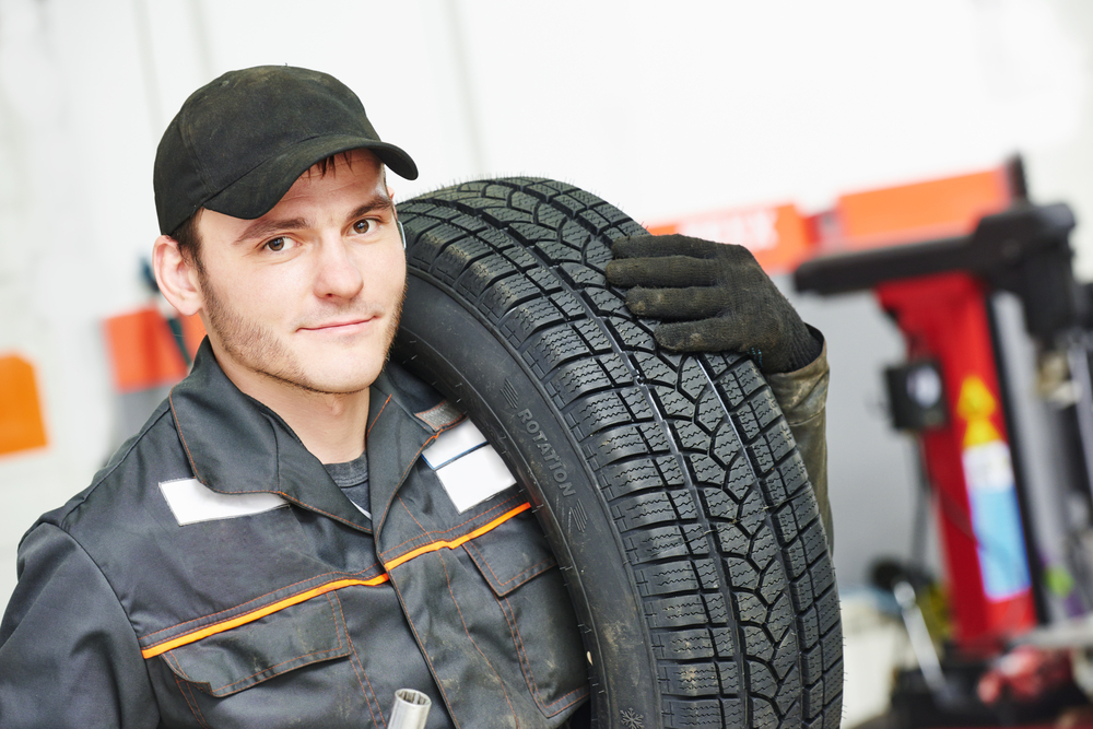 tire and lube technician worker