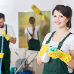 cleaners working